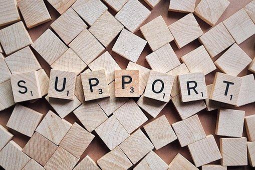 palabra support apoyo