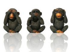 monos ver oir callar